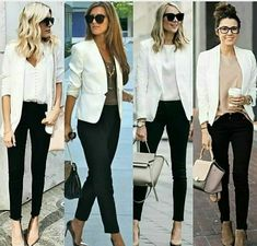 business mode damen blazer and tshirt outfit Blazer Outfits Casual, Business Casual Outfits, Professional Outfits, Classy Outfits, Chic Outfits, Summer Outfits, Fashion Outfits, White Jacket Outfit, Outfits With White Blazer