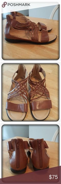Woman's Brown Sandals Size 10M These Are Woman's Gladiator Type Sandals In Brown Size Is 10M. The Brand Is Comfortview From Woman Within. These Are Super Cute & Comfy Great For Spring & Summer. I Wore These A Handful Of Times But They're In Great Condition With Very Little Wear To The Soles 🚫 PAYPAL 🚫 TRADES 🚫 LOWBALLING ❤ Woman Within Shoes Sandals