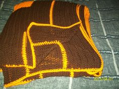 Football inspired King size blanket by dnjcrafts on Etsy