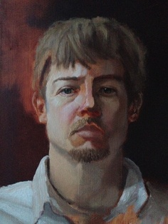 Self Portrait by Dustin Sheline, via Behance