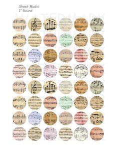 Verkauf Musiknoten Digital Collage Sheet 1 Zoll von OldMarket