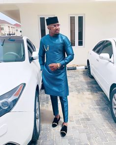 In this post, I'll share with you some nice looking Nigerian native styles for male. I personally handpicked these styles for the gentlemen that read. African Wear Styles For Men, African Dresses Men, African Attire For Men, African Clothing For Men, African Shirts, African Clothes, Nigerian Outfits, Nigerian Men Fashion, African Men Fashion