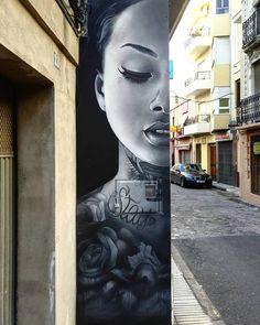 xolaka street art in Spain .