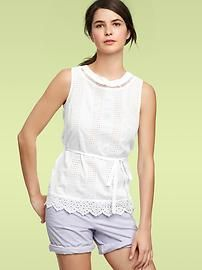 Embroidered top-Gap