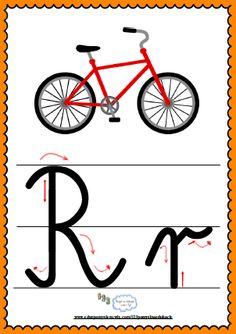 Litera Rr- plansza demonstracyjna FREEEE School Hacks, Montessori, Alphabet, Dots, Blog, Asia, Yarns, Full Bed Loft, Stitches