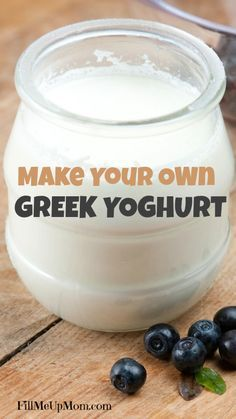 Make your own Greek yoghurt! I can't wait to try this it looks so easy.
