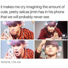 Who does he show them to then, yoongi ?  #jimin❤