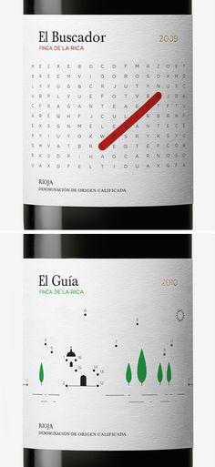 cool wine bottle labels http://lovelypackage.com/finca-de-la-rica/