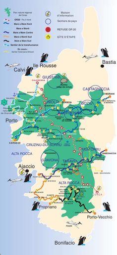 Les sentiers de randonnee en Corse