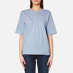 A.P.C. Women's Camilla Top - Blue: Image 1