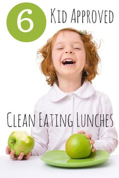 Check out these six clean eating lunches your kids will love! Plus, a free guide to clean eating.