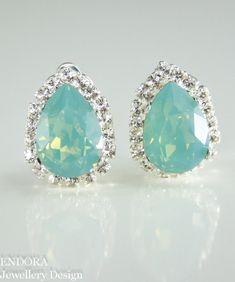 Swarovski crystal clip on earrings | Crystal clip on earrings by #EndoraJewellery | Custom bridal, bridesmaid and flower girl jewelry
