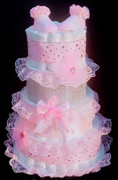 Read more about diaper cake centerpieces. Baby Shower girls should de-stress their healthy skin care routine that offers a glowing complexion without . Baby Shower Baskets, Baby Shower Items, Baby Shower Crafts, Baby Shower Diapers, Baby Shower Parties, Shower Party, Diy Diaper Cake, Nappy Cakes, Girl Diaper Cakes