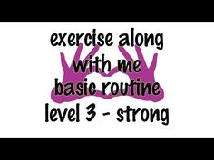 Face Exercise - Exercise Along With Me Series Full FACE EXERCISE Routine - Level 3 - Strong - YouTube