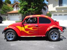 Flaming baja Bug