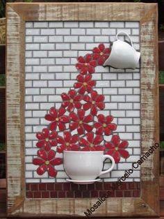 quadro by cecelia Mosaic Wall Art, Mosaic Diy, Mosaic Garden, Mosaic Crafts, Mosaic Projects, Mosaic Glass, Mosaic Tiles, Glass Art, Mosaics