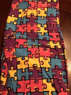 defb5da1da62d OS LuLaRoe One Size Leggings Autism Awareness Puzzle Pieces NWT #fashion  #clothing #shoes