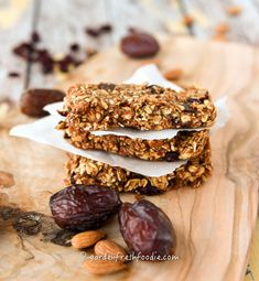Stacks of Crantastic Chewy Granola Bars-Can be made raw or baked! #glutenfree #vegan #oilfree