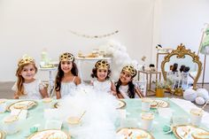 Create this pretty mint princess party with help from this gorgeous petite party kit from Mooico. Party Kit, Gold Party, Princess Party, Mint, Photoshoot, Create, Celebrities, Birthday, Inspiration