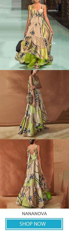 Elegant Stylish Floral Print Long Dress fd72b43d9