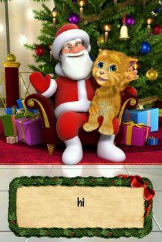 Santa + Kitty = HI
