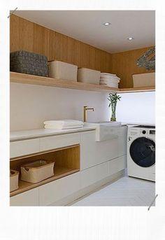 12 idées pour décorer une buanderie - MissZaStyle - Blog déco Modern Laundry Rooms, Farmhouse Laundry Room, Modern Room, Modern Interior Design, Interior Design Living Room, Modern Interiors, Interior Ideas, Küchen Design, House Design