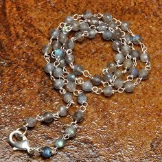Labradorite Faceted Bead Necklace - pinned by pin4etsy.com