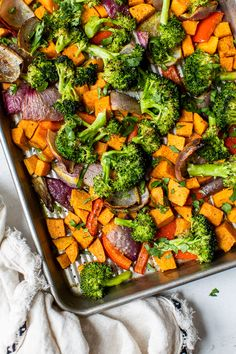 This nourishing Warm Curry Roasted Vegetable Salad with Honey Curry Dressing is a delicious vegetarian, gluten- and dairy-free dinner or make-ahead lunch. 5 pts for 2 cups Roasted Vegetable Salad, Roasted Vegetables, Veggies, Coconut Curry Sauce, Vegetarian Recipes, Healthy Recipes, Delicious Recipes, Yummy Food, Warm Salad