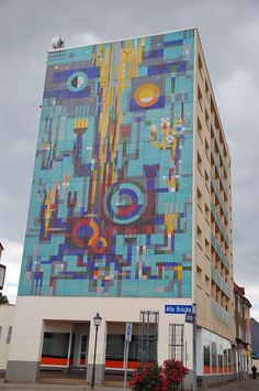 Tile and mosaic mural, Zerbst, Saxony-Anhalt, Germany, 2014, photograph by Jim Cooper.