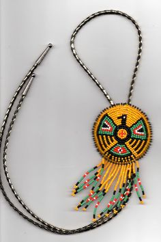 native american beadwork Bolo tie by deancouchie on Etsy