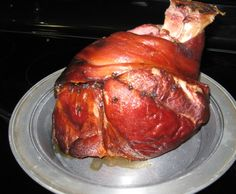 Crock-Pot Brown Sugar Picnic Ham... Cooking it right now,  we'll see how yummy it is!