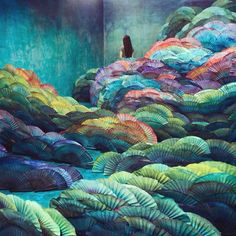 Installation by the artist Jee Young Lee...