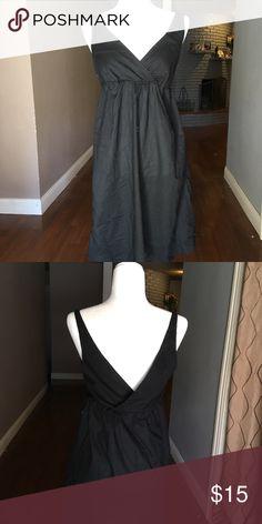 ae26c7b0fa6 Black Tall Sundress Medium tall size. Sundress with pockets. V cuts in  front and