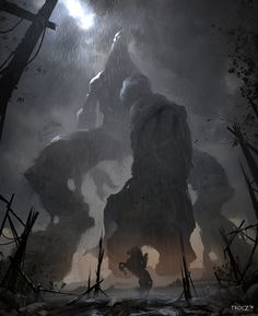 Check out this Shadow of the Colossus/Attack on Titan fan art piece by concept artist Matt Tkocz! http://conceptartworld.com/?p=11038