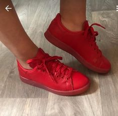 62258529ef85 Baskets stan Smith rouge - Baskets Adidas rouge En très bon état