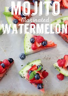 Get through Memorial Day in style with these delicious Mojito Marinated Watermelon slices! - Living Litehouse -