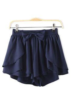 Bow Chiffon Shorts