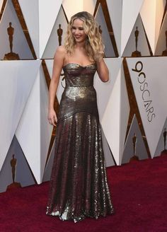 Jennifer Lawrence in Dior - her hair color eventually