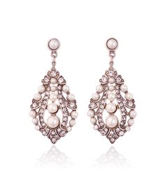 Ben Amun | Crystal and Pearl Drop Earring
