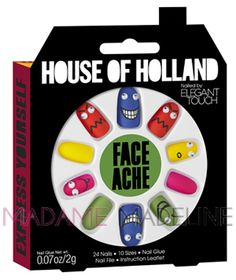House Of Holland Nails By Elegant Touch - FACE ACHE (4016221) #eleganttouch #madamemadeline #nails