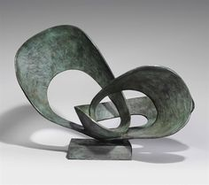 Artwork by Barbara Hepworth, Forms in Movement (Pavan), Made of bronze with a green brown patina Hand Sculpture, Abstract Sculpture, Bronze Sculpture, Metal Sculptures, Abstract Art, Modern Sculpture, Garden Sculpture, Barbara Hepworth, Installation Architecture