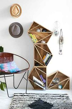 Triangle shelves