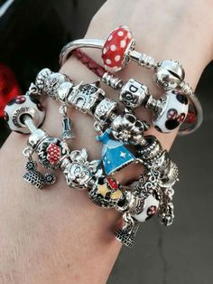 Personalized Photo Charms Compatible with Pandora Bracelets. I definitely want to get a Disney charm for my bracelet! ✌ ▄▄�