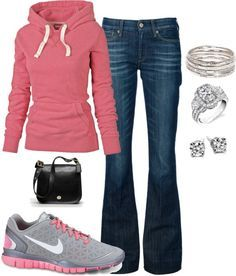 I want to wear this today! | Outfit, Hoodie and Purses