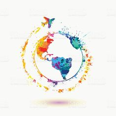 Around the World travel - - Earth icon. Around the World travel Карта мира Earth icon. Around the World travel royalty-free earth icon around the world travel stock vector art & more images of air vehicle World Travel Tattoos, World Tattoo, Tattoo Travel, Easy Watercolor, Watercolor Paintings, Watercolours, Watercolor Tattoo, Earth Symbols, Travel Wallpaper