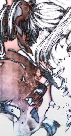 Beautiful Art of Aerith Gainsborough from Final Fantasy VII.