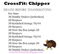 Crossfit: Thanksgiving Chipper
