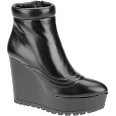 Prada wedge ankle boot, autumn winter 2013. www.wunderl.com