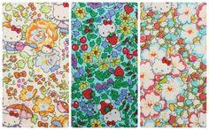 3 pcs of Liberty Hello kitty fabrics printed in Japan by lilymeru, $12.60