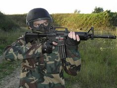 Airsoft Combat is a military simulation war game that uses realistic AK47 rifles - perfect stag do activity